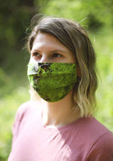 Safety face mask / 100% cotton - MOSS
