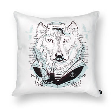 sea WOLF - cushion 45x45 cm