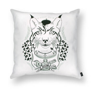LYNX - a decent guy / cushion 45x45 cm