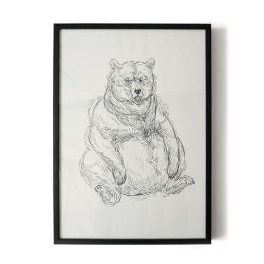 """Bear""- illustration 21x30 cm"