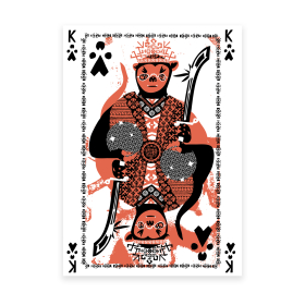 """King of Clubs"" - plakat 50x70 cm"