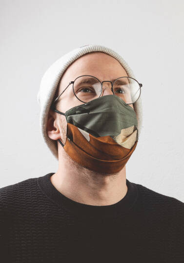 Safety face mask / 100% cotton - LIQUID MEMORY