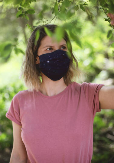 Safety face mask / 100% cotton - NORTHERN SKY