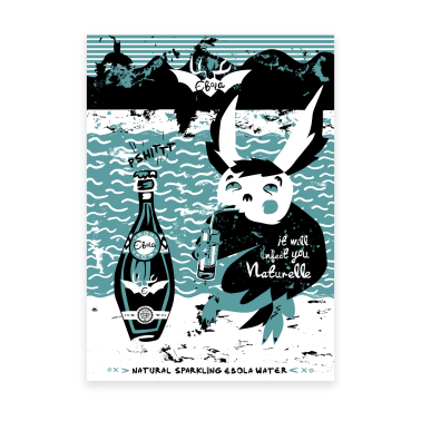 """Natural Sparkling Ebola Water"" - plakat 50x70 cm"