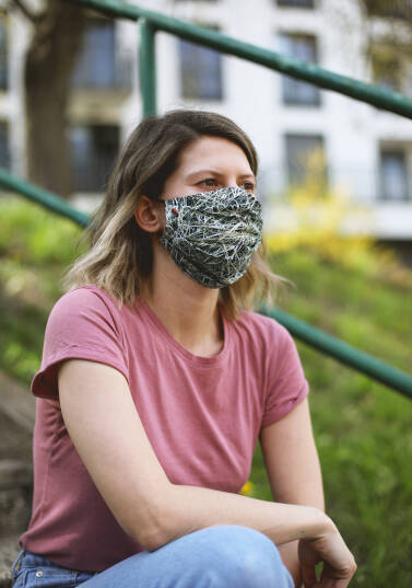 Safety face mask / 100% cotton - HAY